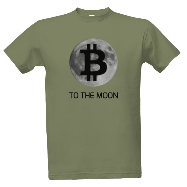 Tričko s potiskem Bitcoin to the moon