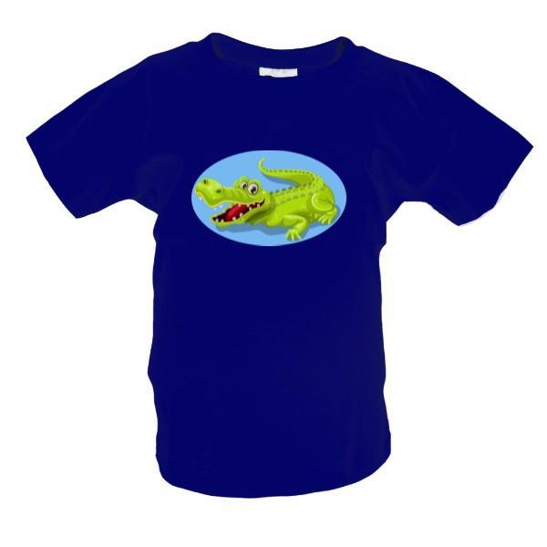 cbebbdd909fb Tričko s potlačou Veselý krokodýl